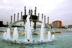 Fountains in the Independence Park Royalty Free Stock Image