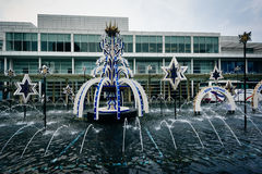 Fountains at the King Power Complex in Bangkok, Thailand. Royalty Free Stock Photo