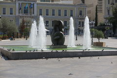 FOUNTAINS AT KOTZIA SQUARE, ATHENS Royalty Free Stock Images