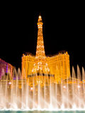Fountains in Las Vegas at night Stock Photo