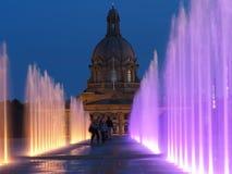 Fountains At Legislative Grounds Edmonton, Alberta Royalty Free Stock Image