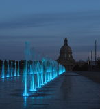 Fountains At Legislative Grounds Edmonton, Alberta Royalty Free Stock Photo