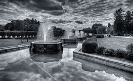 Fountains at Longwood Gardens, PA Stock Photos