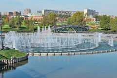 Fountains in Moscow. Stock Image