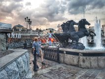 Fountains of Moscow royalty free stock photography