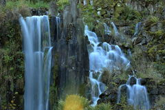 Fountains in the mountain park in Cassel Wilhelshoehe Stock Photography