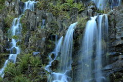 Fountains in the mountain park in Cassel Wilhelshoehe Royalty Free Stock Photos