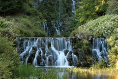Fountains in the mountain park in Cassel Wilhelshoehe Royalty Free Stock Image