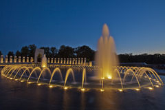 Fountains of National World War II Memorial. Fountains of the National World War II Memorial in Washington, D.C. Photo made 4 August 2013 Royalty Free Stock Image