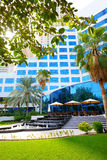 The fountains near outdoor terrace of luxury hotel Stock Image