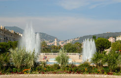Fountains in Nice, France Stock Image