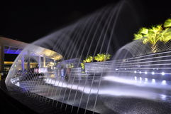 Fountains at night Royalty Free Stock Photo