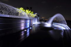 Fountains at night Stock Image