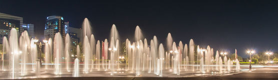 Fountains by night royalty free stock photo