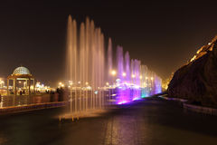 Fountains at night, Muscat Royalty Free Stock Photos
