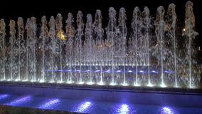 Fountains by night stock video footage