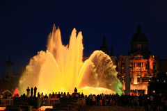 Free Fountains Of The Font Magica In Barcelona At Night, Spain Royalty Free Stock Images - 87986129