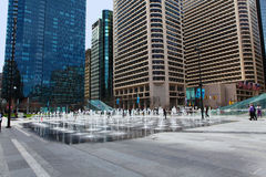 The fountains outside of City Hall, Philadelphia Royalty Free Stock Photos