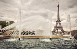 Fountains in Paris Royalty Free Stock Photography