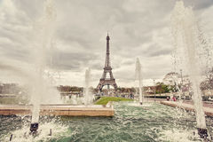 Fountains in Paris Royalty Free Stock Images
