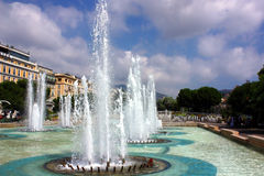 Fountains in the park Stock Photography