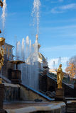 Fountains in the park, Petergof Russia Stock Photos