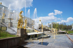 Fountains of Petergof Palace Royalty Free Stock Images