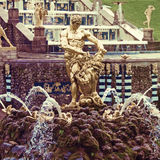 Fountains in Petergof park. Fountains Samson Royalty Free Stock Photos