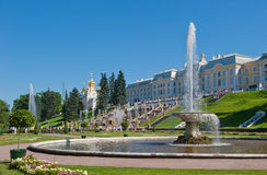 Fountains of Petergof, Saint Petersburg. Russia Stock Image
