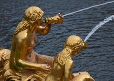 Fountains of Peterhof Stock Photo