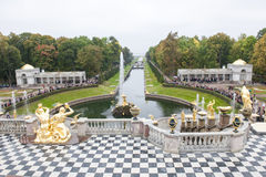 Grand Cascade at Peterhof Palace Stock Image
