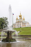 Fountains of Peterhof Palace, St. Petersburg Royalty Free Stock Image