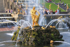Fountains of Peterhof, Russia Royalty Free Stock Photo