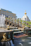Fountains of Peterhof, Russia Royalty Free Stock Images