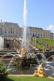 Fountains of Peterhof, Russia Stock Image