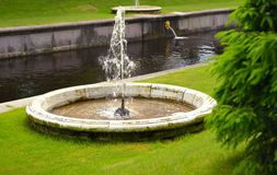 Fountains in Peterhof. Saint Petersburg, Russia. Fountains in Peterhof. Saint Petersburg Royalty Free Stock Photo