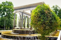 Fountains in Peterhof. Saint Petersburg, Russia. Fountains in Peterhof. Saint Petersburg Royalty Free Stock Photos