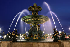 Fountains at Place de la Concord, Paris Royalty Free Stock Photography