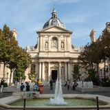 Fountains at Place de la Sorbonne.  Paris, Royalty Free Stock Photography