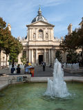 Fountains at Place de la Sorbonne.  Paris Royalty Free Stock Photos