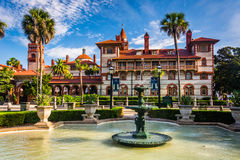 Fountains and Ponce de Leon Hall in St. Augustine, Florida. Stock Photography