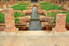 Fountains in roman water gardens Royalty Free Stock Photo