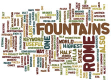 Fountains In Rome Word Cloud Concept Stock Photos