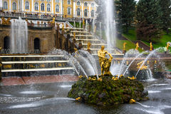 Fountains in Saint Petersburg. Peterhof, Russia royalty free stock image