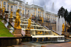 Fountains in Saint petersburg Stock Photography