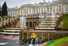 Fountains in Saint petersburg Royalty Free Stock Image