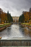 Fountains in Saint petersburg. Petergof, Russia royalty free stock photo