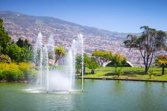 Fountains of Santa Catarina Park, Funchal. Fountains of Santa Catarina Park, this is one of the largest parks of Funchal, Madeira island, Portugal Stock Image