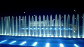 Fountains in slow motion stock footage