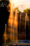 Fountains at Sunset Royalty Free Stock Images